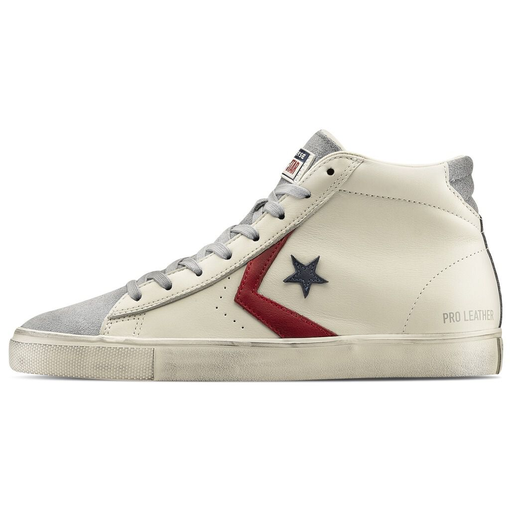Converse Pro Leather Vulc Mid white shoes - AW LAB