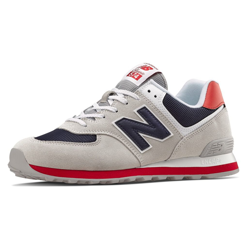 new balance 574 blu navy uomo