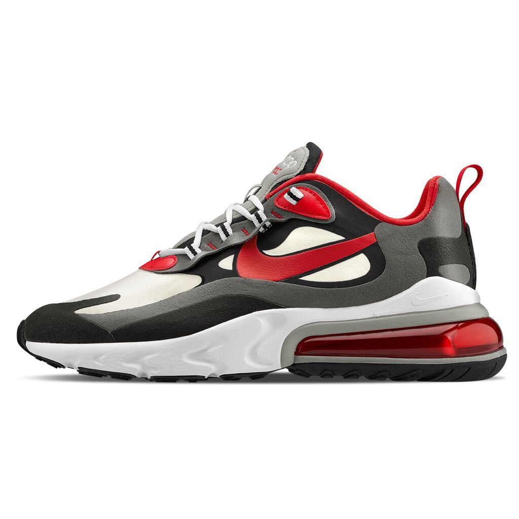 Nike Air Max 270 React rosse, nere e bianche AW LAB